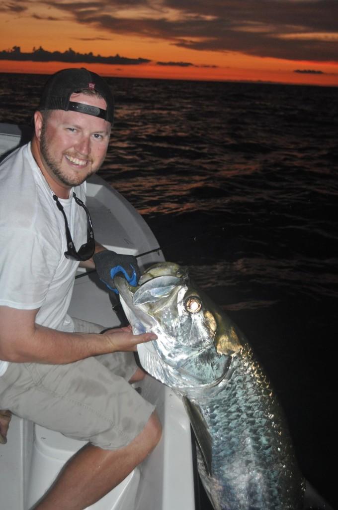 6 5 15 tampa bay tarpon capt jason dozier for Tarpon fishing tampa