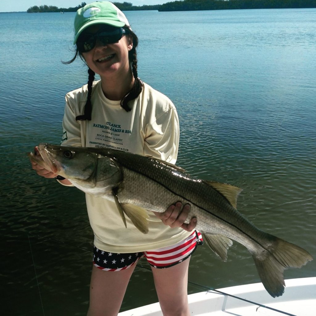Keeper snook with Capt. Jason Dozier